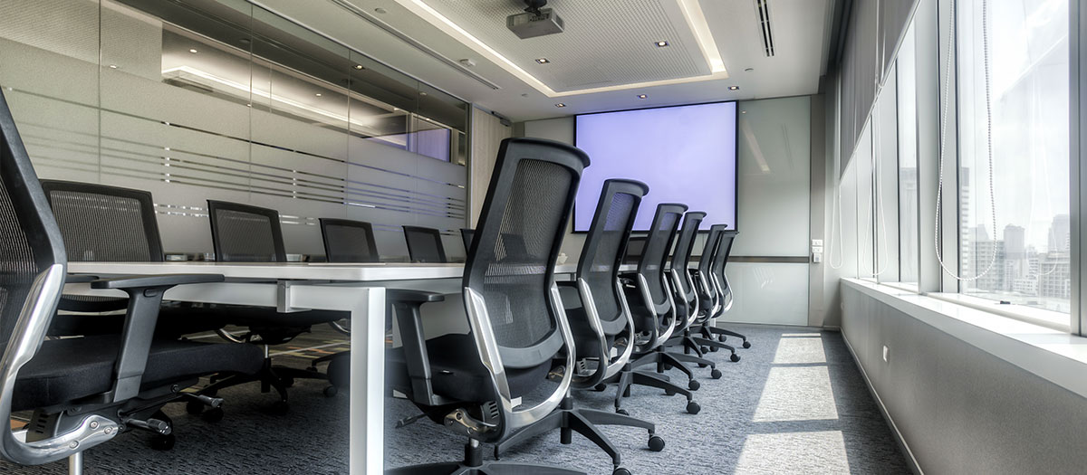 commercial office boardroom automation systems and smart technology